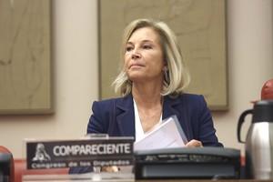 María Dolores Dancausa Treviño, consejera delegada de Bankinter, durante una comparecencia en el Congreso.