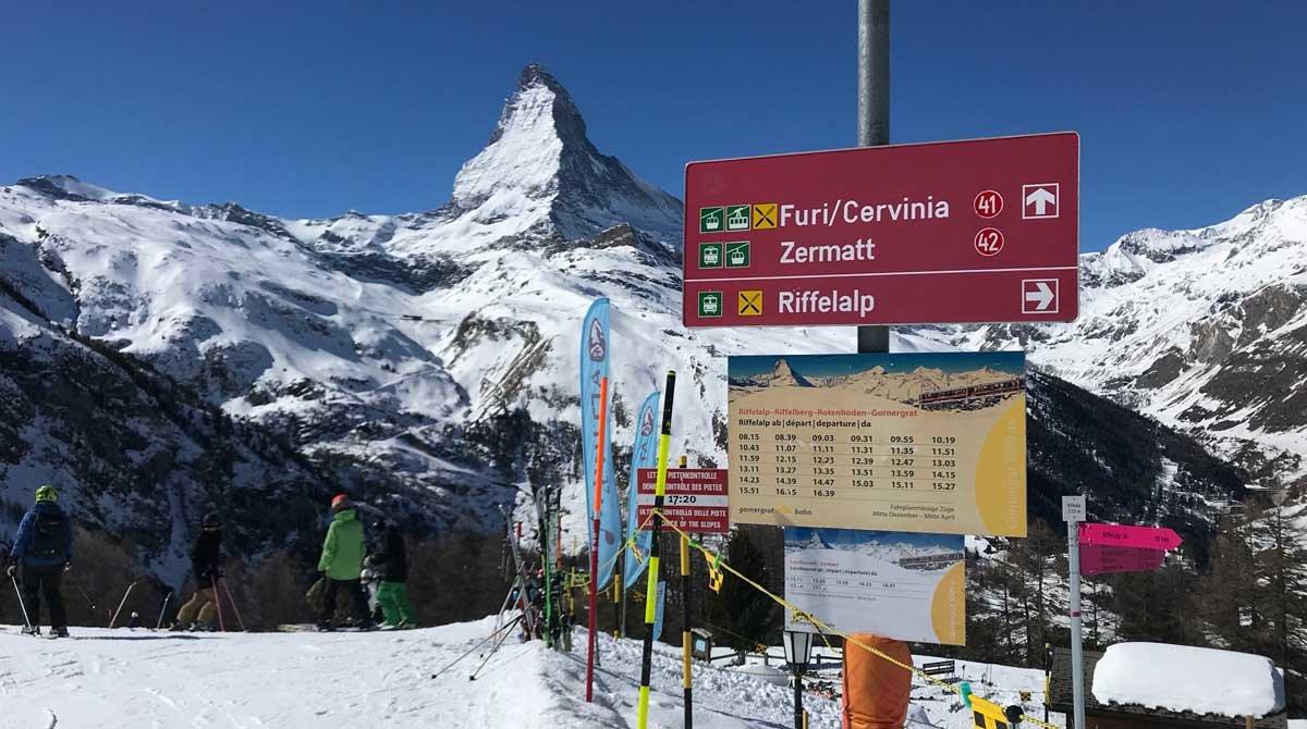 Matterhorn. La imagen de esta bella montaña acompaña al esquiador a lo largo y ancho del dominio esquiabe de Zermatt.