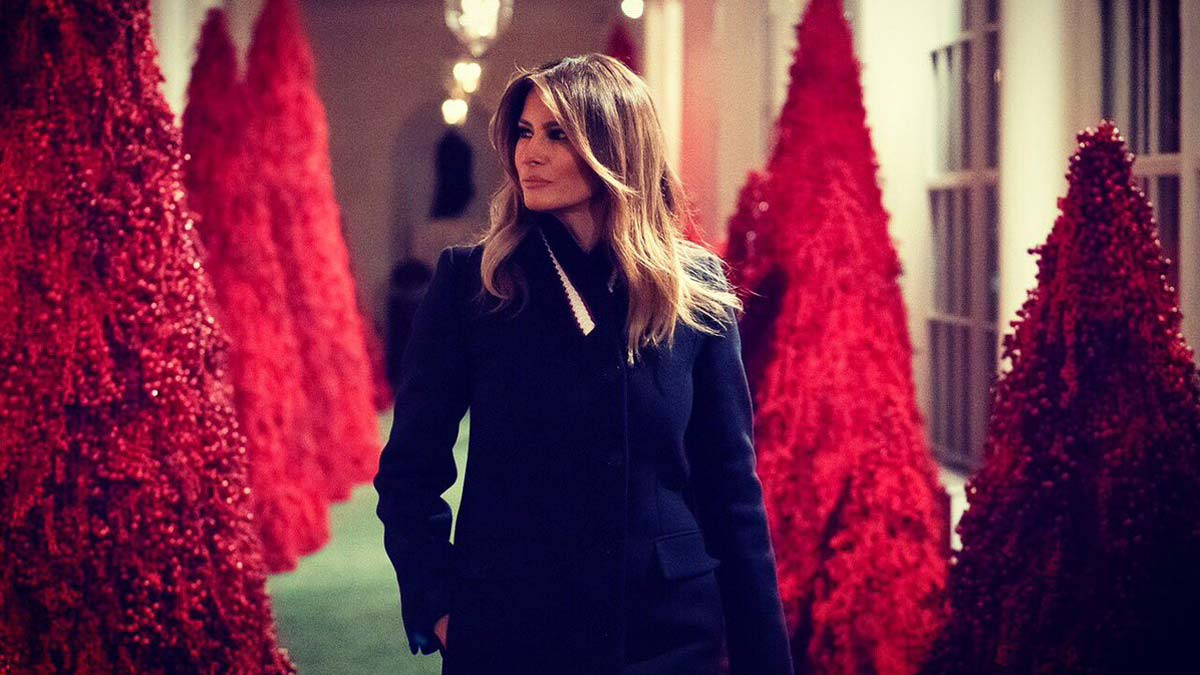 Melania Trump presenta la decoración de Navidad de la Casa Blanca.