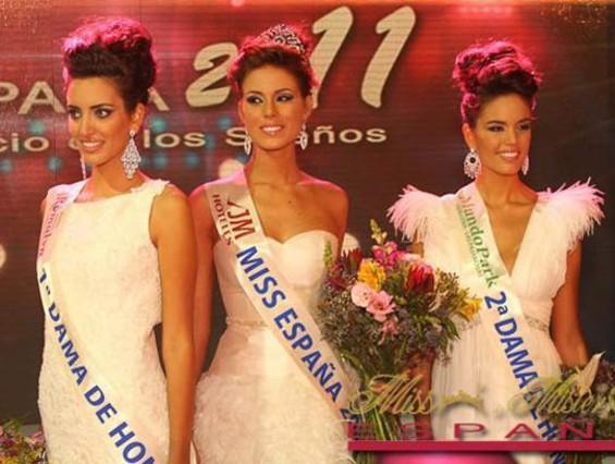 Miss Barcelona, Andrea Huisgen, recibió el título de Miss España 2011.
