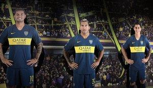 MD10 - BUENOS AIRES (ARGENTINA), 6/11/2018.-Las figuras de los jugadores del Boca, Edwin Cardona (izquierda), Carlos Tévez (centro) y Cristian Pavón (derecha), se exhiben en el Museo de la Pasión Boquense hoy, martes 6 de noviembre de 2018, en Buenos Aires (Argentina). El Museo de la Pasión Boquense lleva 17 años acumulando en su interior los mayores logros de Boca Juniors, aunque guarda un lugar especial para la Séptima, el trofeo más esperado de su historia y que el club disputará contra su eterno rival, River Plate, en la final de la Copa Libertadores. EFE/ Mireia Segarra