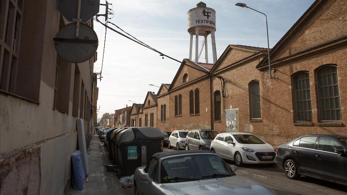 Naves industriales en Can Feu de Sabadell, ocupadas por personas sin hogar.