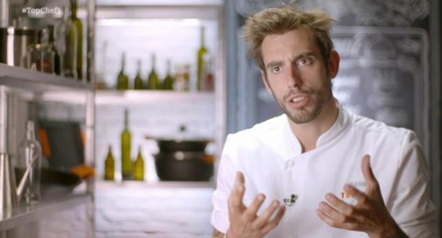 Oriol Lomas, el concursante expulsado esta semana de Top chef.