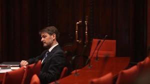 Oriol Pujol, en el Parlament, en junio del 2013.