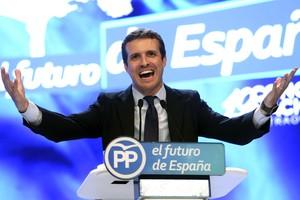 Pablo Casado, durante su discurso como candidato a la presidencia del PP.