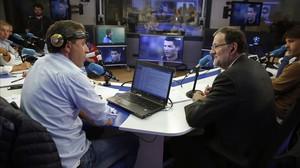 Paco González, director de Tiempo de Juego de la Cadena COPE, entrevista a Mariano Rajoy.