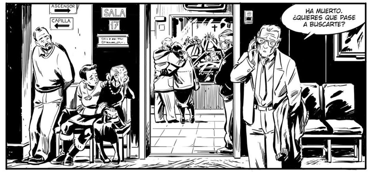 Viñeta de 'Como viaja el agua', nuevo cómic de Juan Díaz Canales.