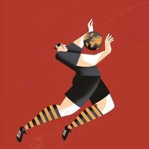 Ilustración de Pep Boatella para la portada de Atlas de una pasión esférica, de Toni Padilla.
