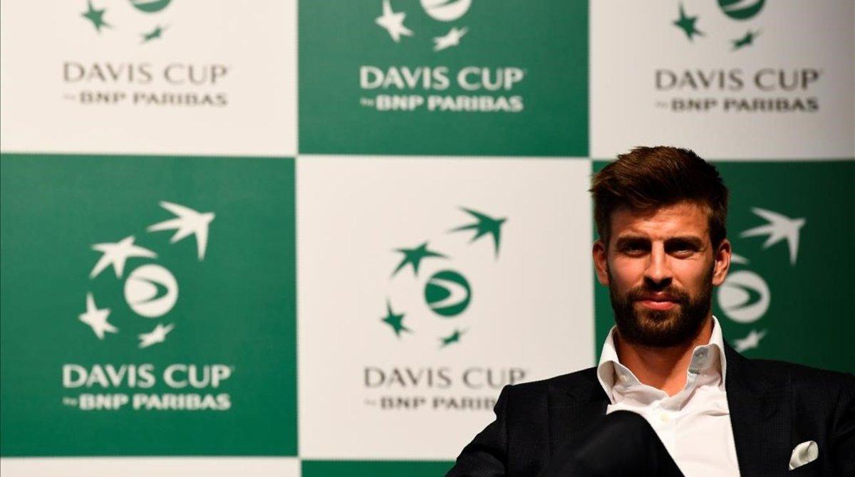 Gerard Piqué, al presentar su proyecto de la Copa Davis en Madrid en octubre, también con su empresa Kosmos.