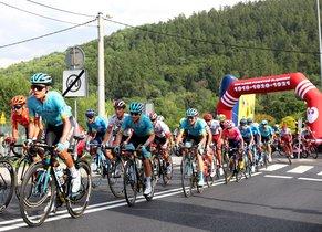Los ciclistas de la Vuelta a Polonia, durante la quinta etapa.