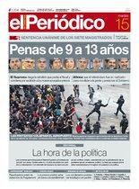 La portada de EL PERIÓDICO.