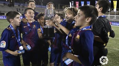 La cantera del Barça sigue en la cima con otro éxito en la Liga Promises