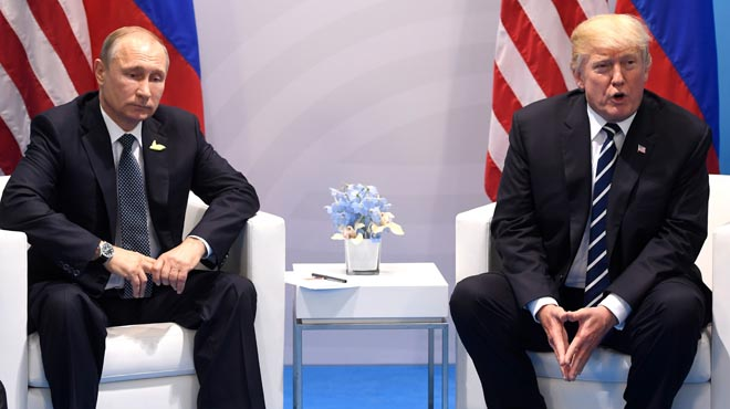 Putiny Trump se reúnen en el marco del G-20 en Hamburgo.