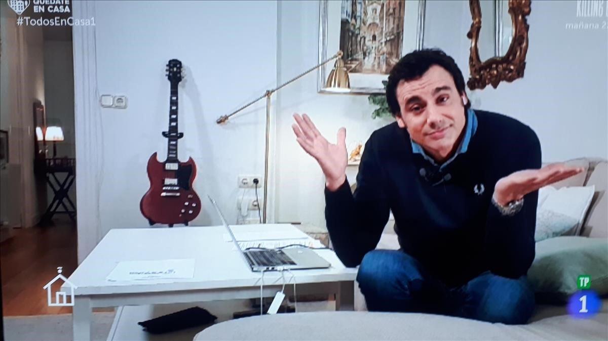 Ion Aramendi, en 'Todos en casa' (TVE-1).