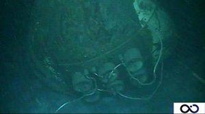 Les imatges del submarí ARA San Juan en el fons del mar