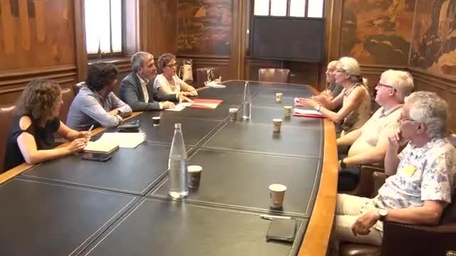 Imágenes del inicio de la reunión.