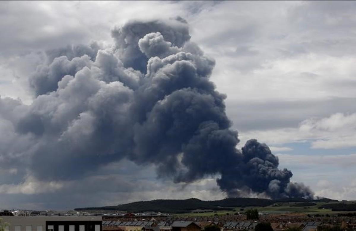 El incendio de Seseña en fotos