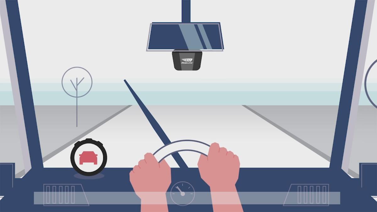 Cómo funciona el sistema de detección de colisiones de vehículos que prueban los autobuses de Barcelona.