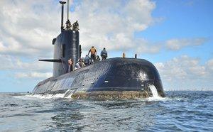 El submarino ARA San Juan, en una imagen de archivo.