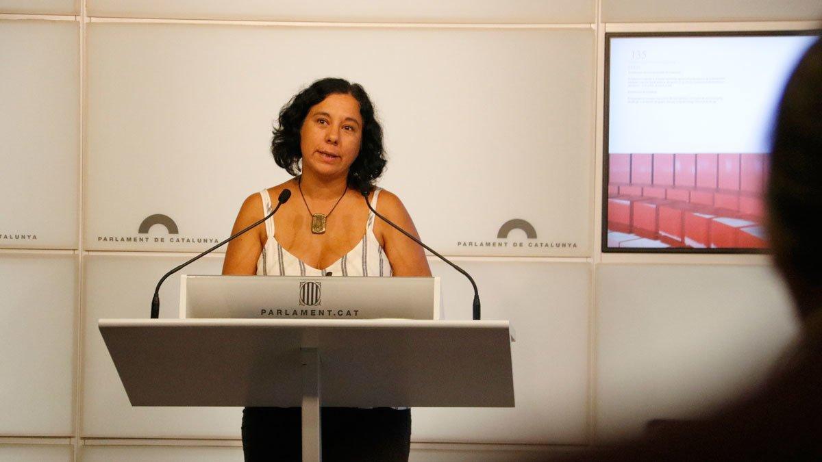 Susanna Segòvia, en el Parlament.