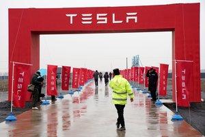 Terreno de Tesla en Shanghái el día en el que se inició la construcción de unaplanta de producción.