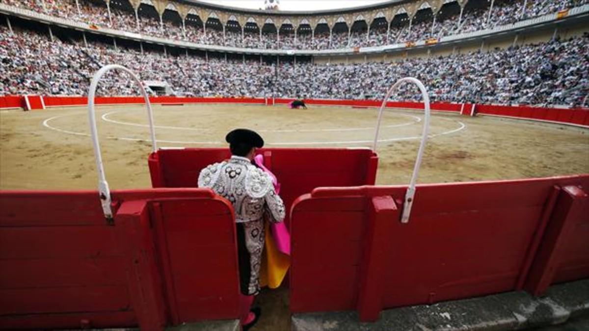 El torero José Tomás, en el ruedo, en la última corrida de toros en la Monumental,el 25 de septiembre del 2011.