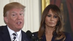 Trump y su esposa, Melania.