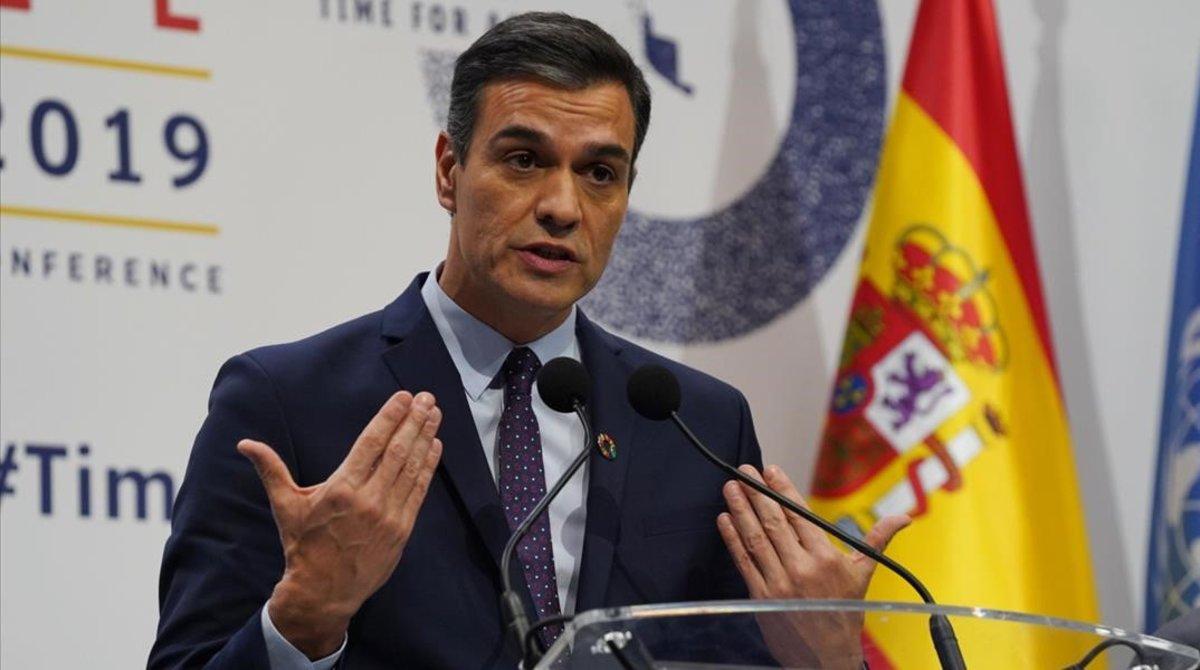 Pedro Sánchez, durante la última Cumbre del Clima celebrada en Madrid.