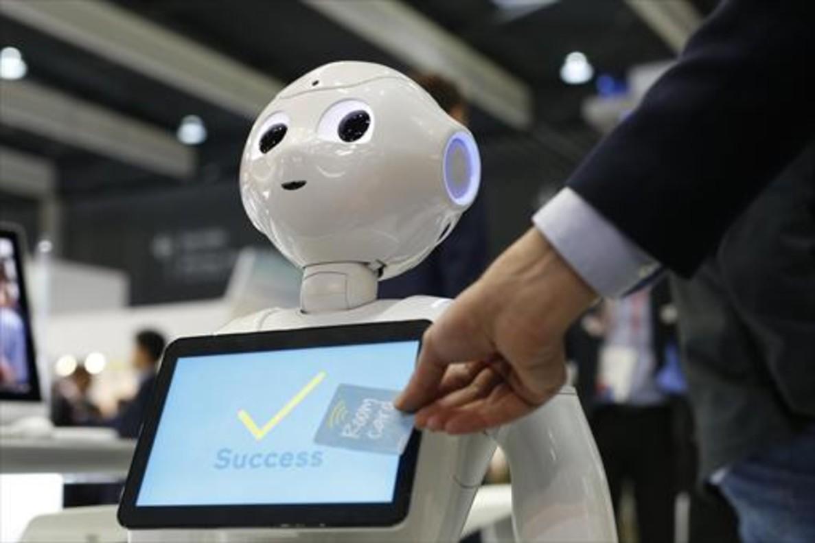 Uno de los robots presentados en el Mobile World Congress.