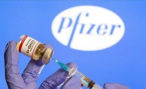 Una dosis de la vacuna de Pfizer.