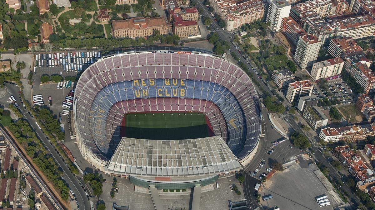 Vista aerea del Camp Nou.
