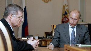 Yuri Chaika y Vladímir Putin, en una imagen tomada en el 2007.