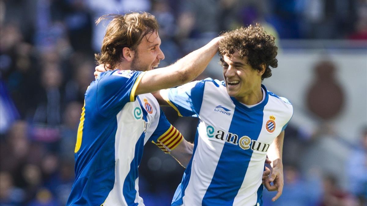 Nueva celebración de aquel Espanyol que disfrutó del brasileño durante cuatro meses.