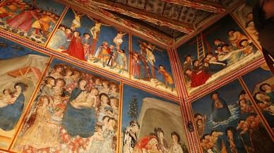 Luz, color y emoción para los murales góticos de Pedralbes