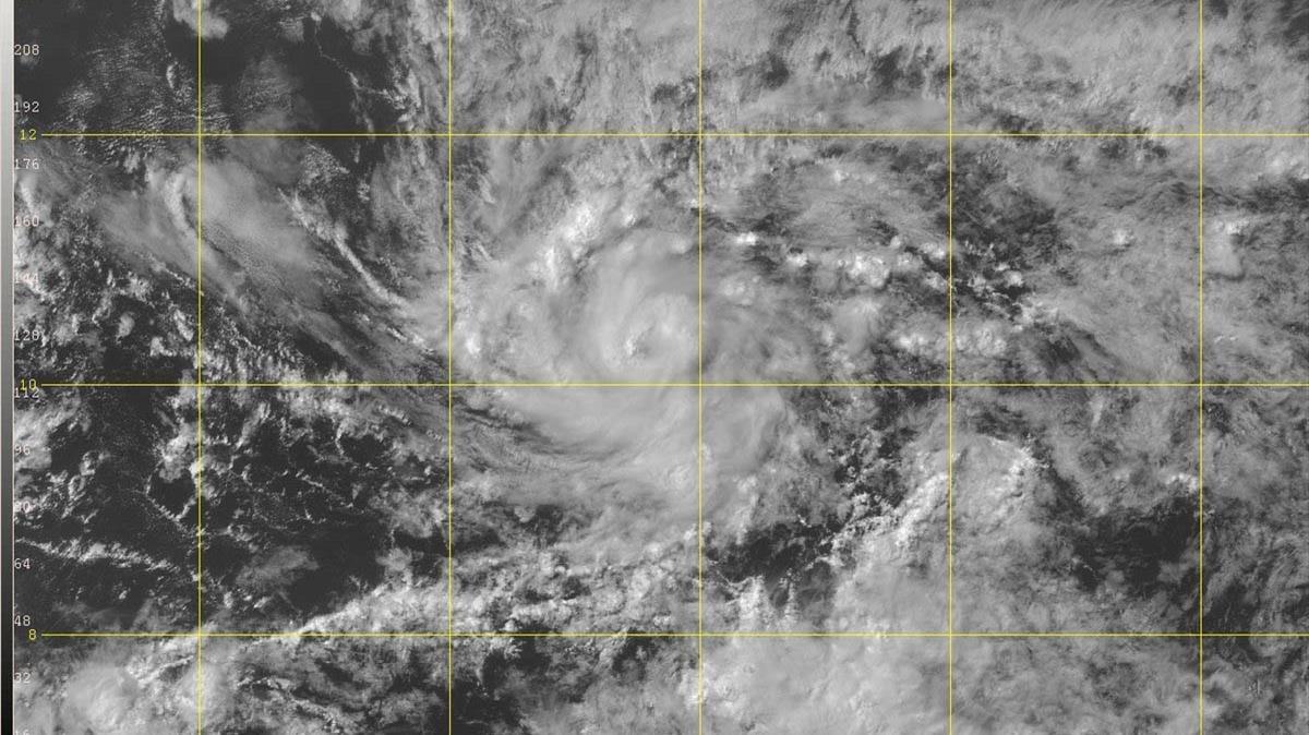 Imagen de satélite del huracán Beryl.