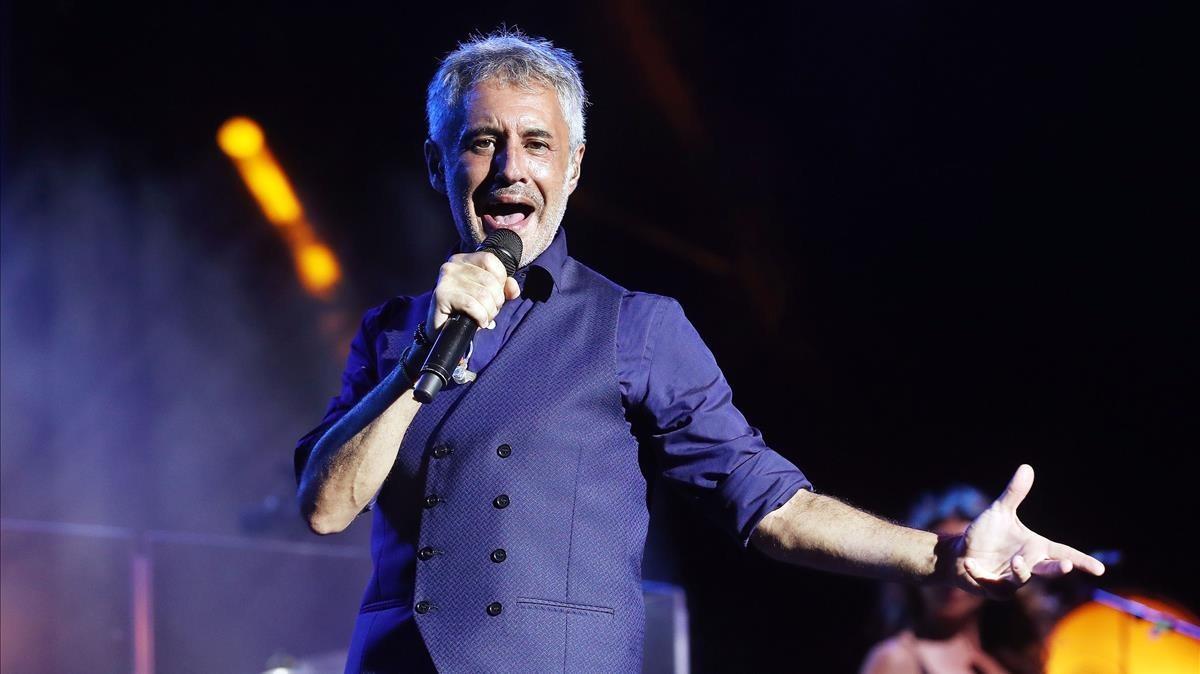 Sergio Dalma durante su actuación en Cap Roig.