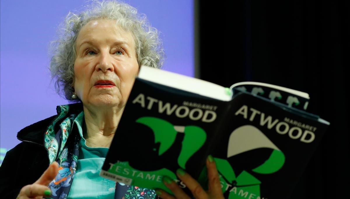 Margaret Atwood, en la presentación mundial de 'Los testamentos', en Londres, el martes pasado.