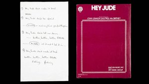 Manuscrito de Paul McCartney con la letra de 'Hey Jude'.