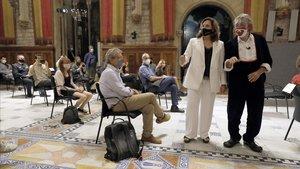 La alcaldesa de Barcelona, en el acto de lectural del pregón de la Mercè de 2020.