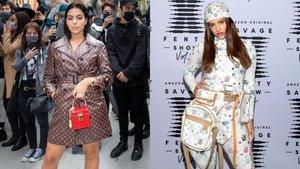 Georgina Rodríguez y Rosalíavestidas de Louis Vuitton.