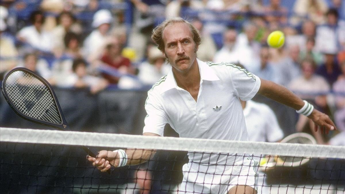 Stan Smith, durante el primer Masters de tenis, que ganó en 1970.