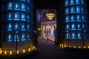 Aspecto de la exposición, de Juego de Tronos en el Museu Marítim.