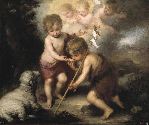 'Els nens de la petxina' (1670-1675), en què Murillo retrata Jesús i el seu cosí Joan Baptista