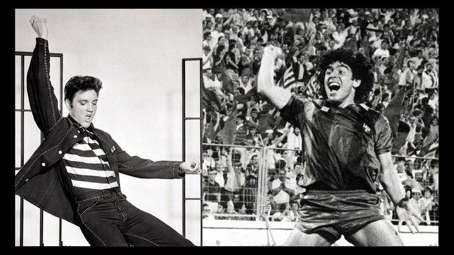 Maradona solo es comparable a Elvis