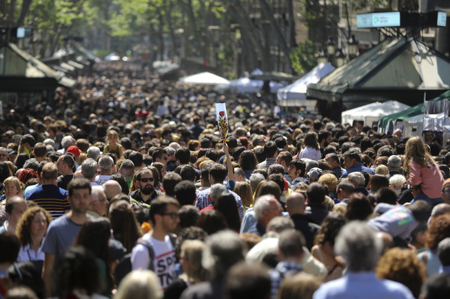 Sant Jordi 2016, en imatges