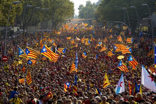 Imatge de la Via Catalana 2014 de l'anteriorOnze de Setembre
