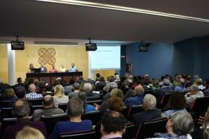 Acto de presentación de la Candidatura Unitària Republicana i Sobiranista en Mataró.