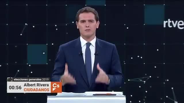 El turno final de palabra de Albert Rivera en el debate de RTVE.