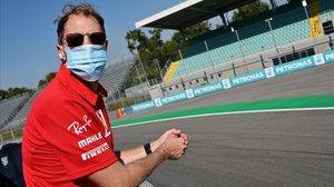 El alemán Sebastian Vettel, en Monza.