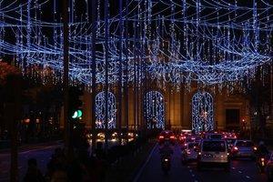 Alumbrado navideño en Madrid.